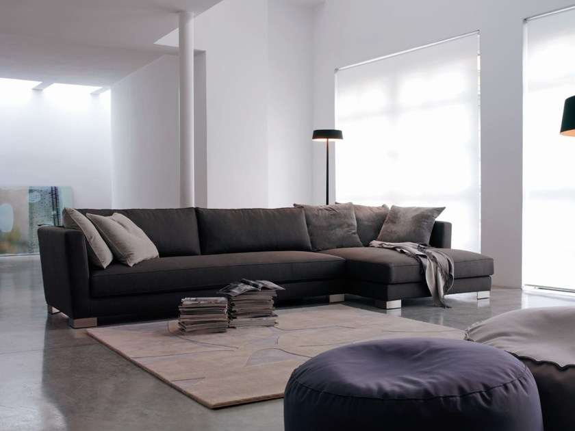 Sectional fabric sofa with removable cover LINK by Verzelloni