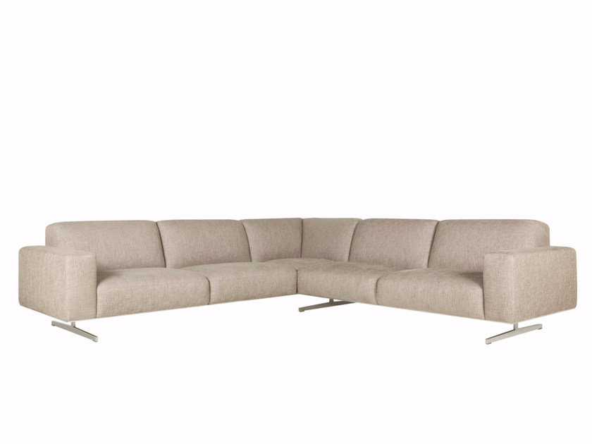 6 seater corner upholstered fabric sofa LINUS | Corner sofa - SITS