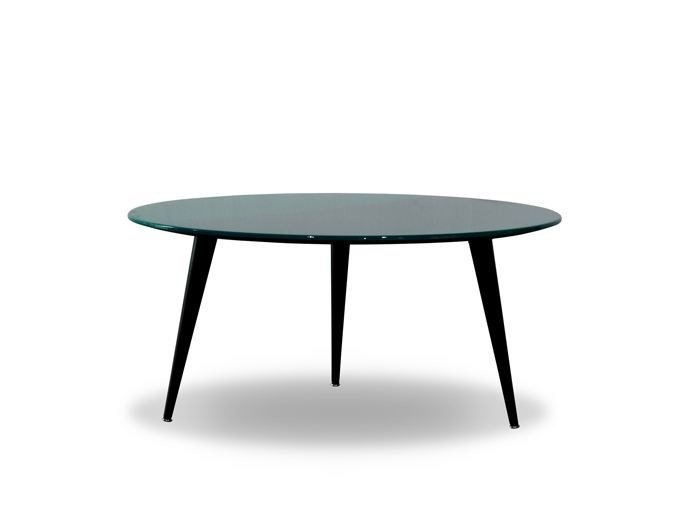 Lacquered round coffee table LIQUID COFFEE | Round coffee table - BAXTER