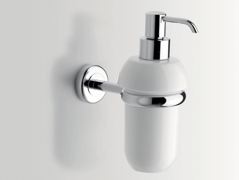 Wall-mounted ceramic liquid soap dispenser CIRCLE | Liquid soap dispenser by BATH&BATH