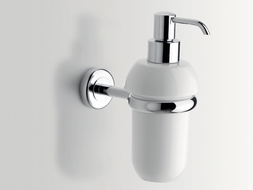 Wall-mounted ceramic liquid soap dispenser CIRCLE | Liquid soap dispenser - BATH&BATH