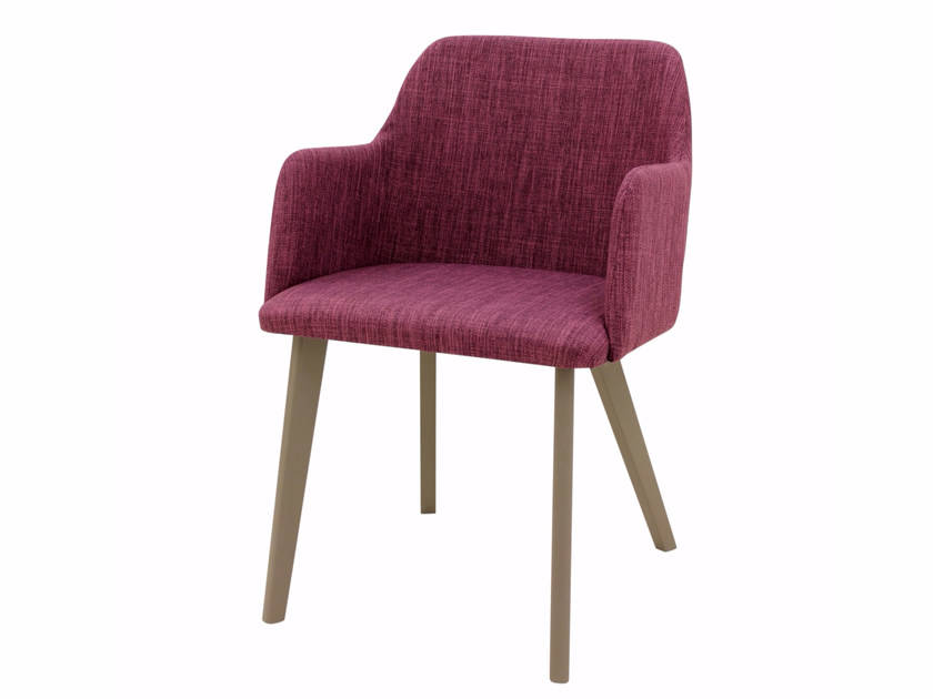 Upholstered fabric easy chair with armrests LISA + A - Z-Editions