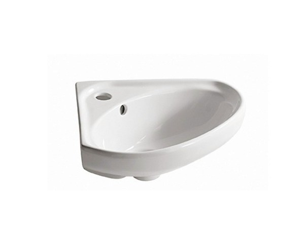 Wall-mounted ceramic Public washbasin LISBONA - GALASSIA