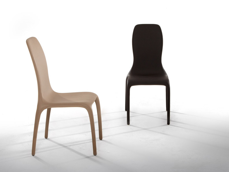 Upholstered leather chair LISETTA by Tonin Casa