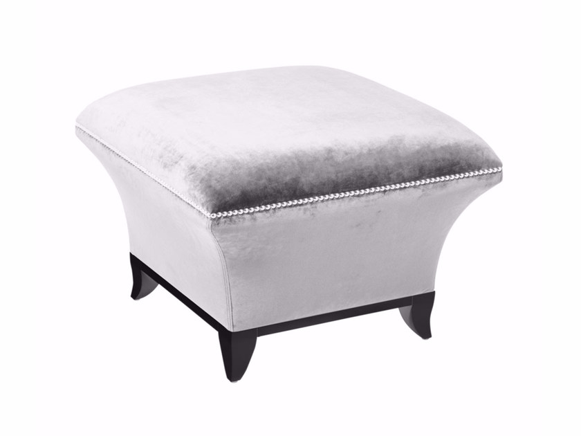 Upholstered square fabric pouf LITTLE BAY by GENTRY HOME