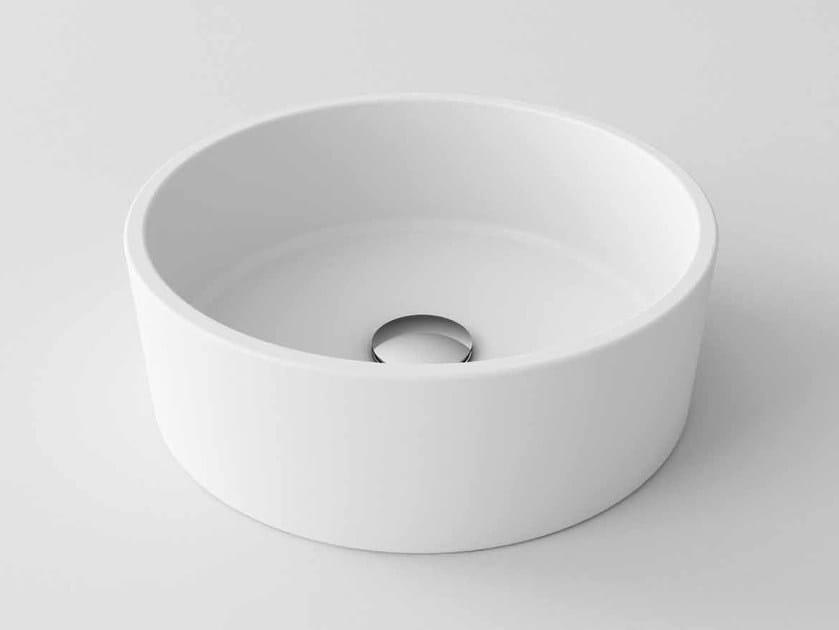 Countertop round Stonelight washbasin LIVE - Flora Style
