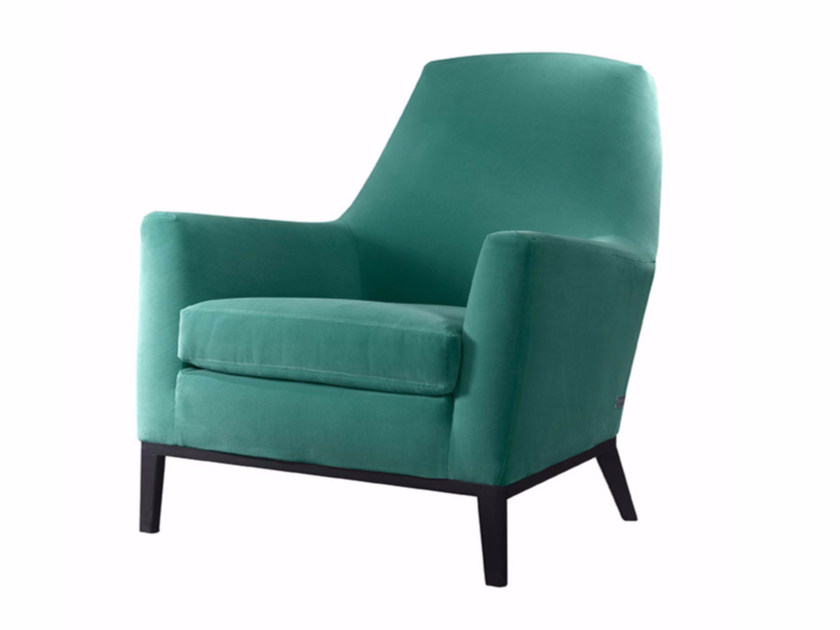 Fabric armchair with armrests LIVIA - SOFTHOUSE