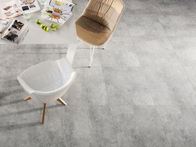 Flooring with concrete effect LIVINGSTONE CEMENT WORN | Flooring - TUBADZIN