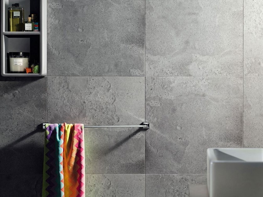 Indoor wall tiles with concrete effect LIVINGSTONE CEMENT WORN | Wall tiles - TUBADZIN