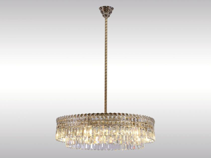 Classic style crystal pendant lamp LOBMEYR-CHANDELIER - Woka Lamps Vienna