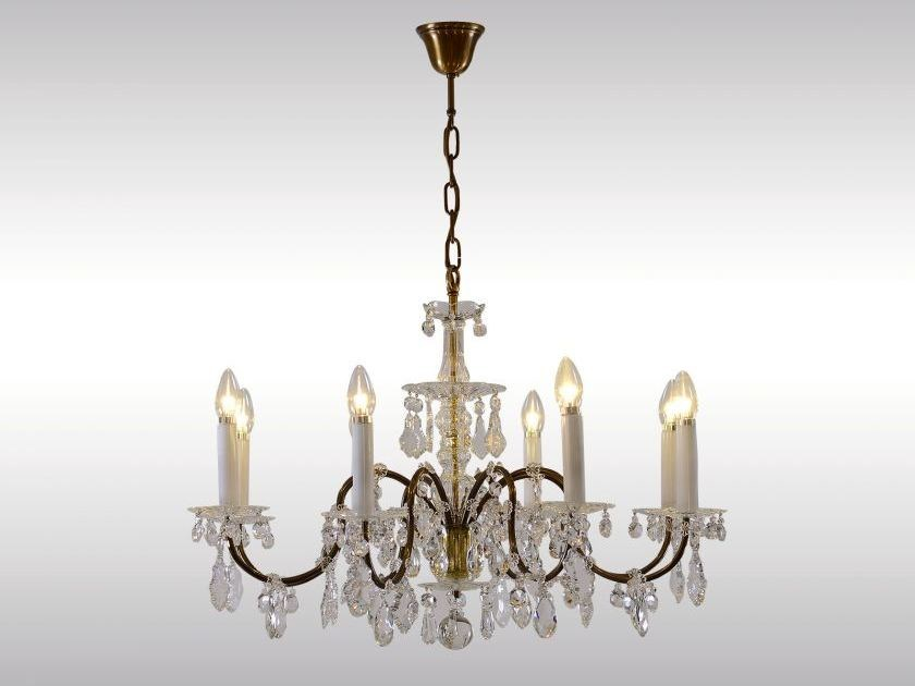 Classic style crystal chandelier LOBMEYR CHANDELIER - Woka Lamps Vienna