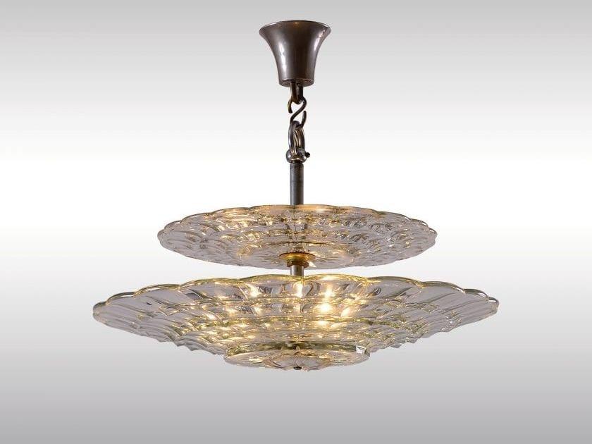 Classic style crystal pendant lamp LOBMEYR KRISTALL LUSTER by Woka Lamps Vienna