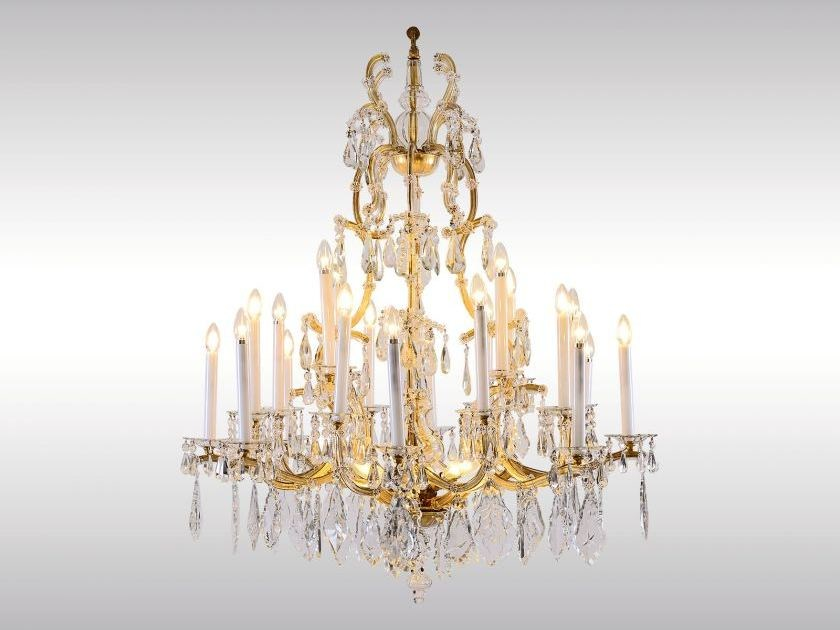 Classic style chandelier LOBMEYR MARIA THERESIEN LUSTER - Woka Lamps Vienna