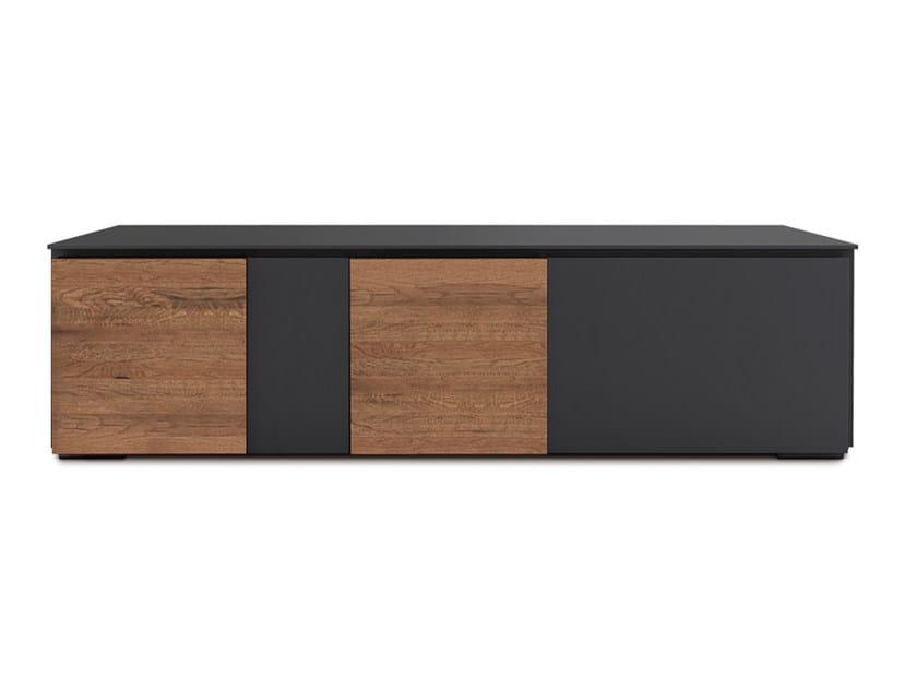 Low lacquered oak TV cabinet LOFT WILD | TV cabinet - Oliver B.