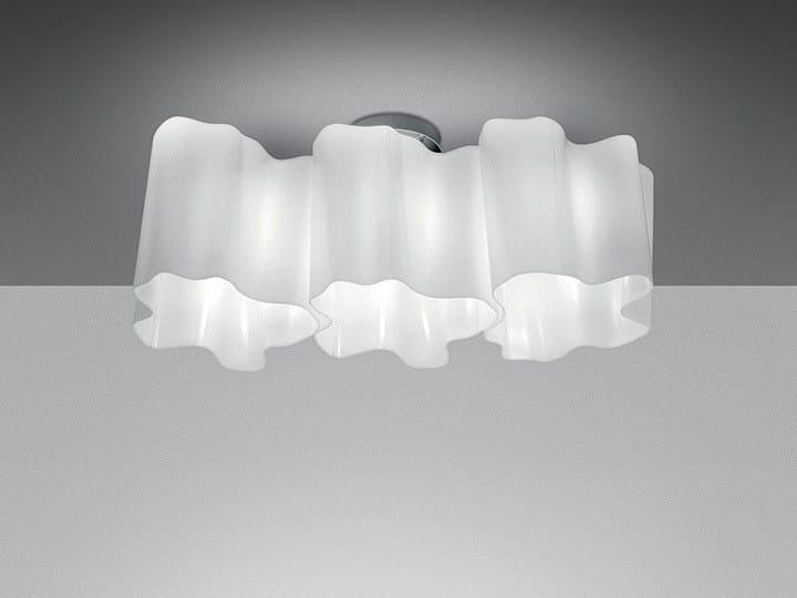 Halogen blown glass ceiling lamp LOGICO 3 | Ceiling lamp - Artemide