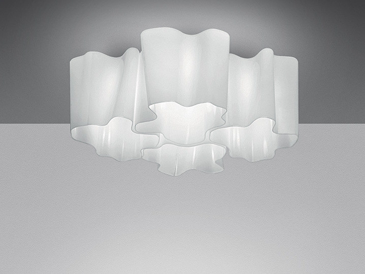 Halogen blown glass ceiling lamp LOGICO 4X90° | Ceiling lamp by Artemide