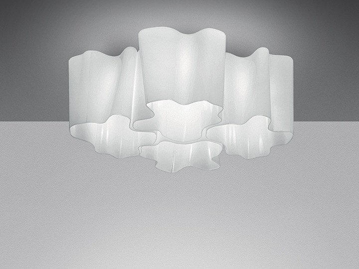 Halogen blown glass ceiling lamp LOGICO 4X90° | Ceiling lamp - Artemide Italia