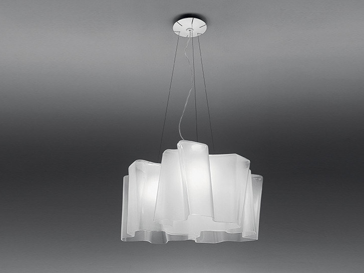 Direct light halogen blown glass pendant lamp LOGICO 3X120° | Pendant lamp - Artemide Italia