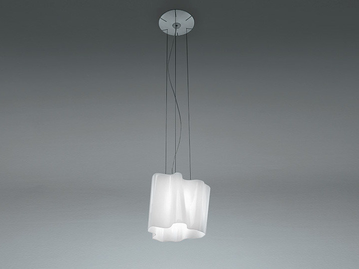 Direct light halogen blown glass pendant lamp LOGICO | Pendant lamp - Artemide