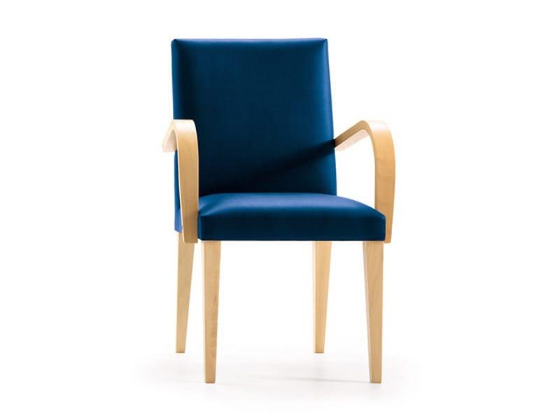 Sedia in tessuto LOLA | Sedia con braccioli - SANCAL
