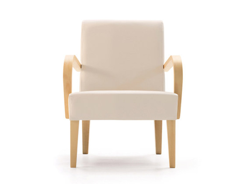 Fabric armchair with armrests LOLA | Armchair - SANCAL