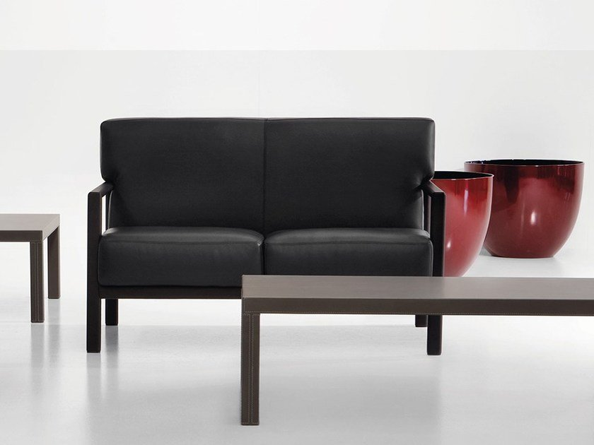 2 seater leather sofa LONDON | 2 seater sofa by Polflex