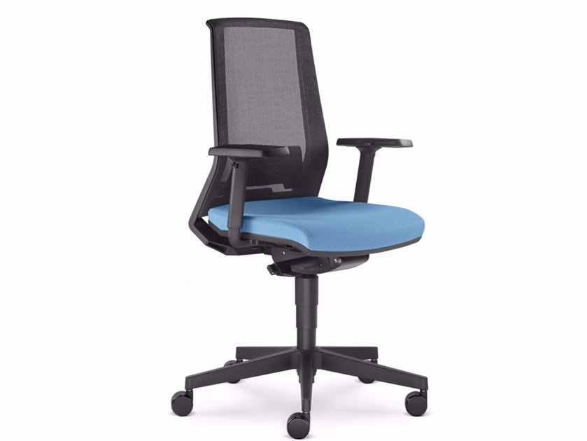 Ergonomic mesh task chair with 5-Spoke base with armrests LOOK 270-AT - LD Seating