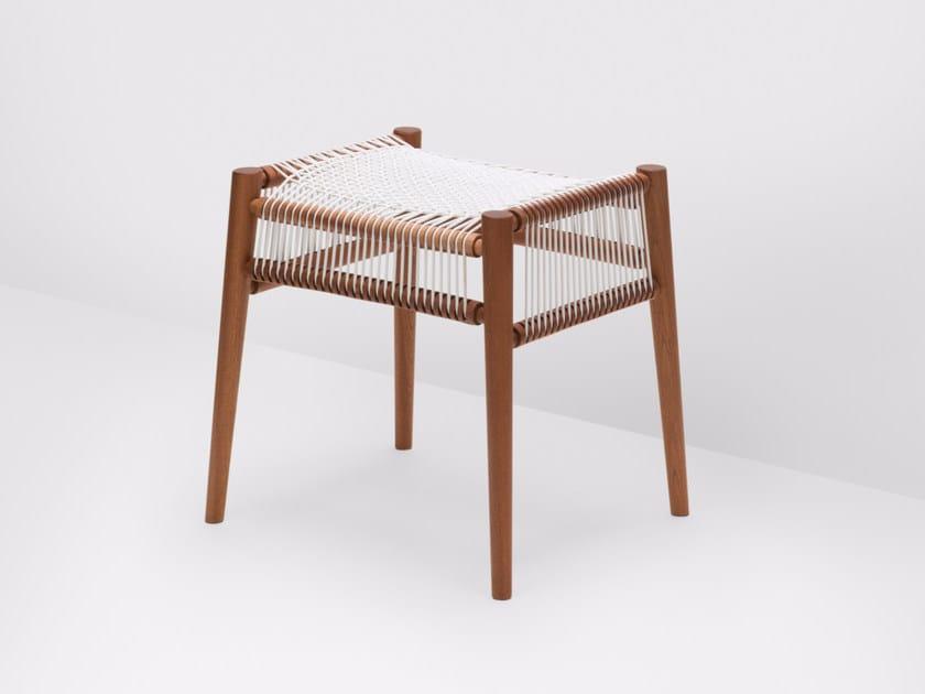 Low walnut stool LOOM | Walnut stool - H Furniture