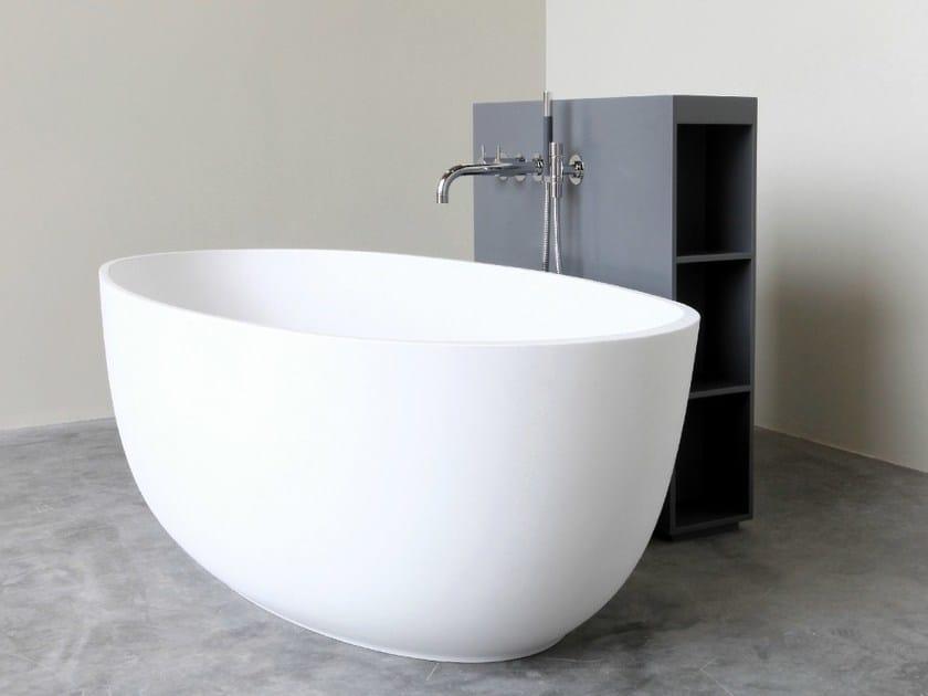 Freestanding oval HI-MACS® bathtub LOOP | Bathtub - Not Only White