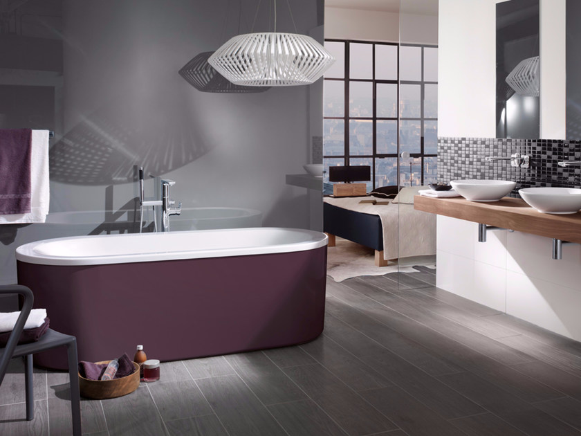 Acrylic bathtub LOOP&FRIENDS - COLOUR ON DEMAND - Villeroy & Boch