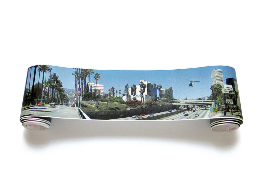 Adhesive panoramic landscape wallpaper LOS ANGELES PANORAMA by EXTRATAPETE