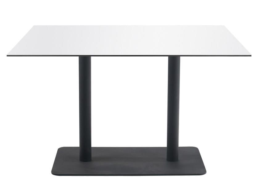 Metal table base LOTUS SQUARE II by Papatya