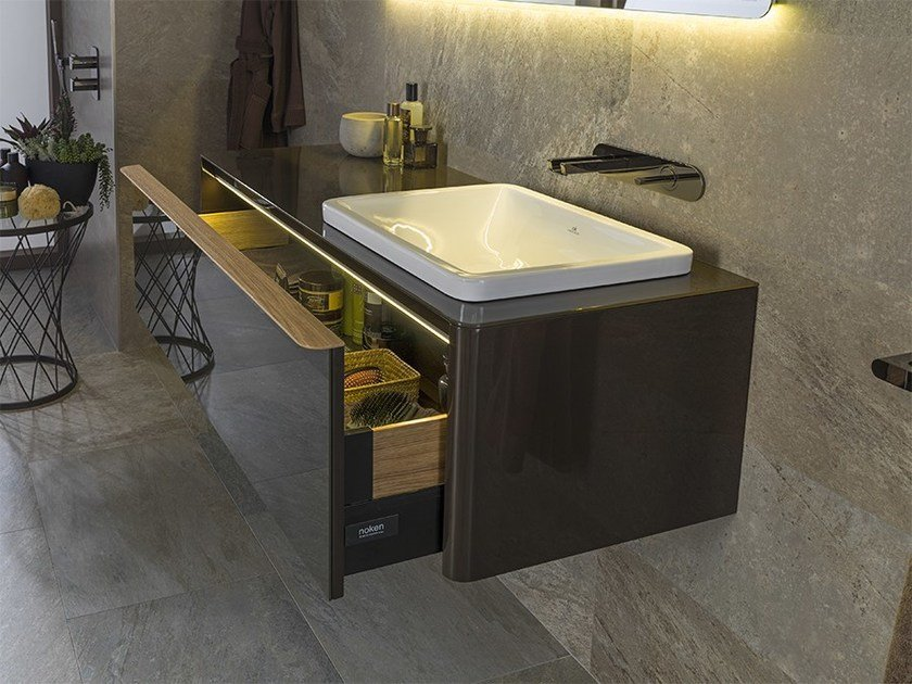 Wall-mounted vanity unit with drawers LOUNGE | Wall-mounted vanity unit by Noken