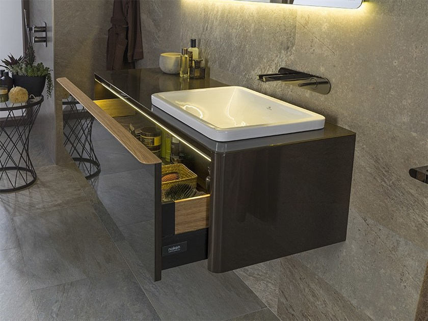 Wall-mounted vanity unit with drawers LOUNGE | Wall-mounted vanity unit - NOKEN DESIGN
