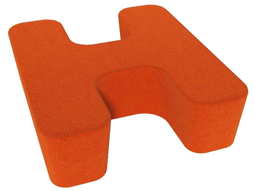 Fabric pouf LOVE LETTERS H - Segis
