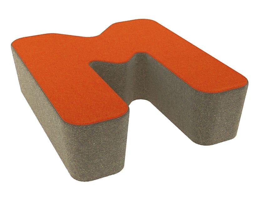 Fabric pouf LOVE LETTERS M - Segis