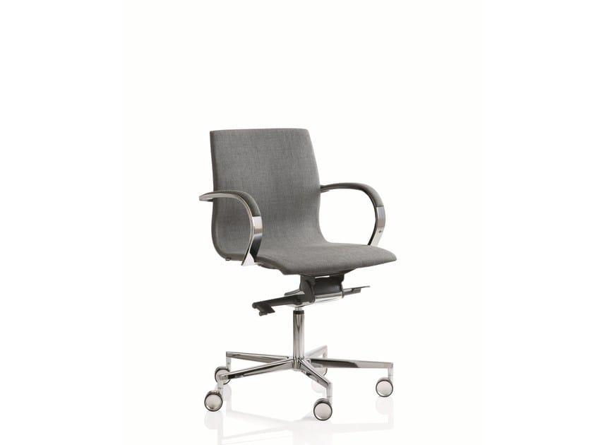 Poltrona ufficio direzionale girevole a 5 razze con schienale basso EM204 | Poltrona ufficio direzionale con schienale basso by Emmegi
