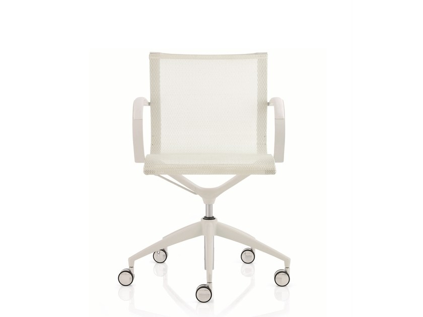 Low back executive chair with 5-spoke base with armrests EM202 MESH | Low back executive chair - Emmegi