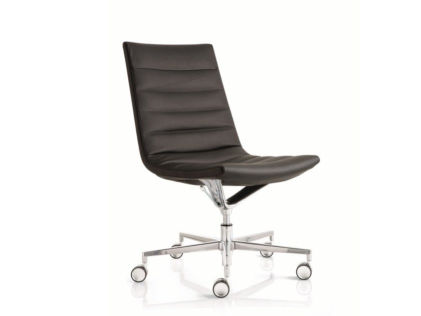 Swivel task chair with 5-Spoke base with casters KEY | Task chair with 5-Spoke base by Emmegi