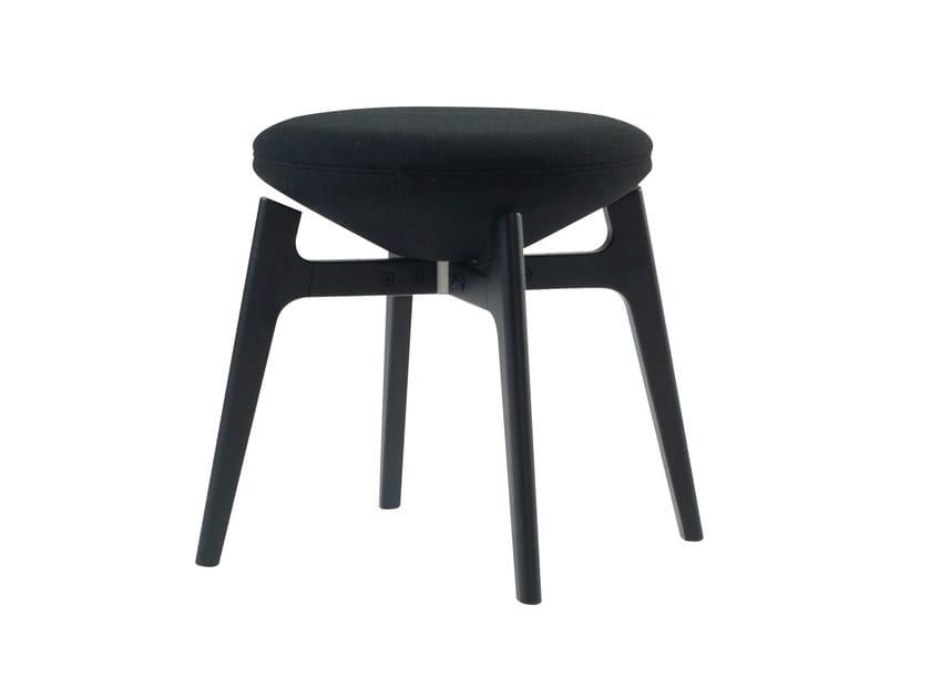 Low swivel stool U-TURN | Low stool - ROCHE BOBOIS