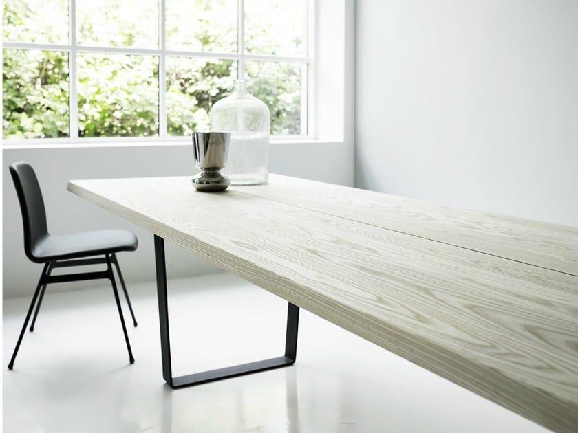 tavolo allungabile rettangolare in rovere lowlight table - dk3 - Tavolo Allungabile Rettangolare