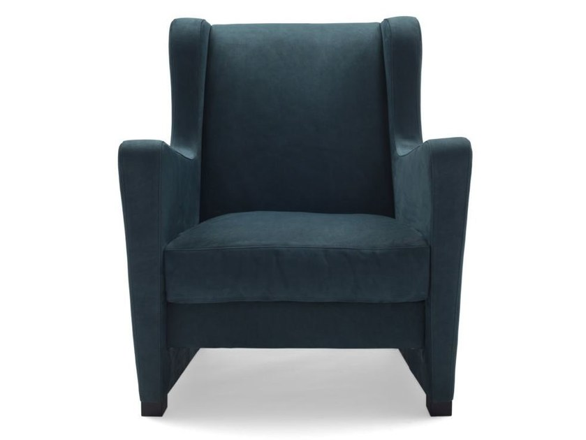 Armchair with removable cover with armrests LU' - BODEMA