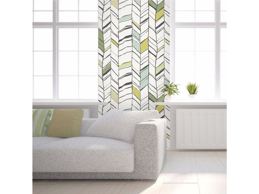 Washable non-woven paper wallpaper strip LU-CHEVRIUM - LGD01