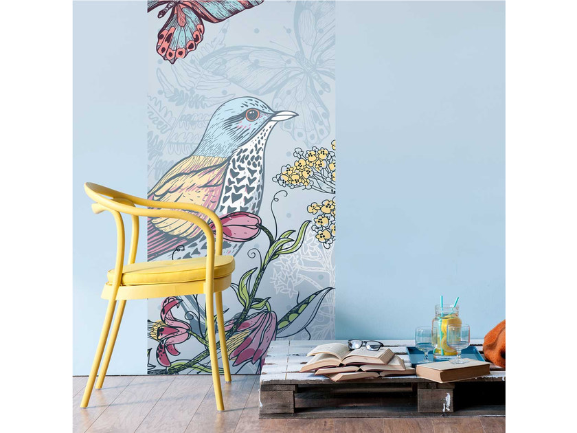 Washable non-woven paper wallpaper strip LU-FAUNE by LGD01