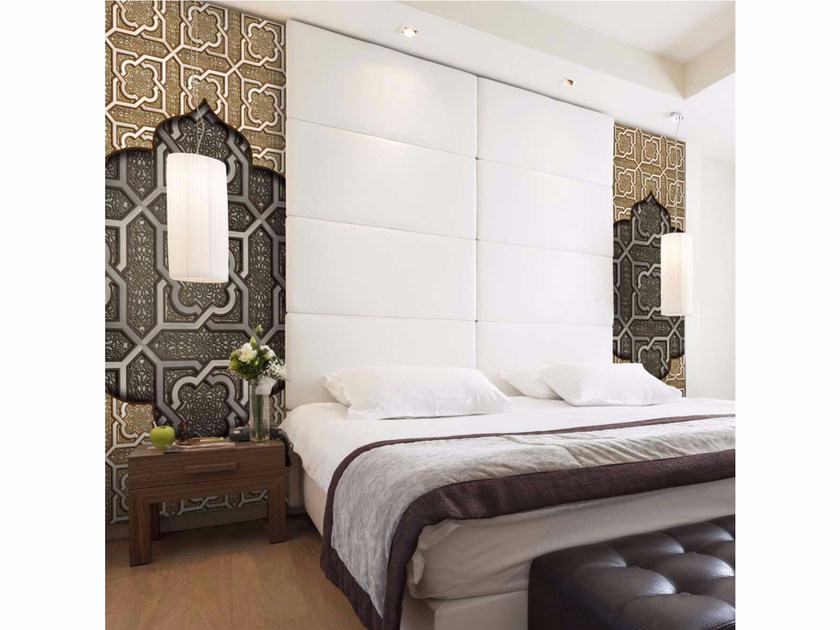 Motif washable non-woven paper wallpaper strip LU-ORIENTAL - LGD01