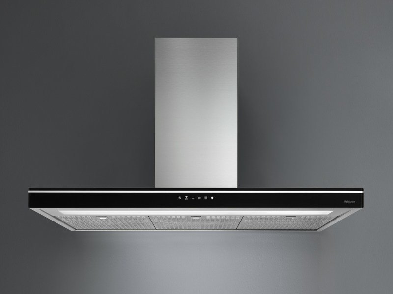 Wall-mounted Glass and Stainless Steel cooker hood LUCE - Falmec