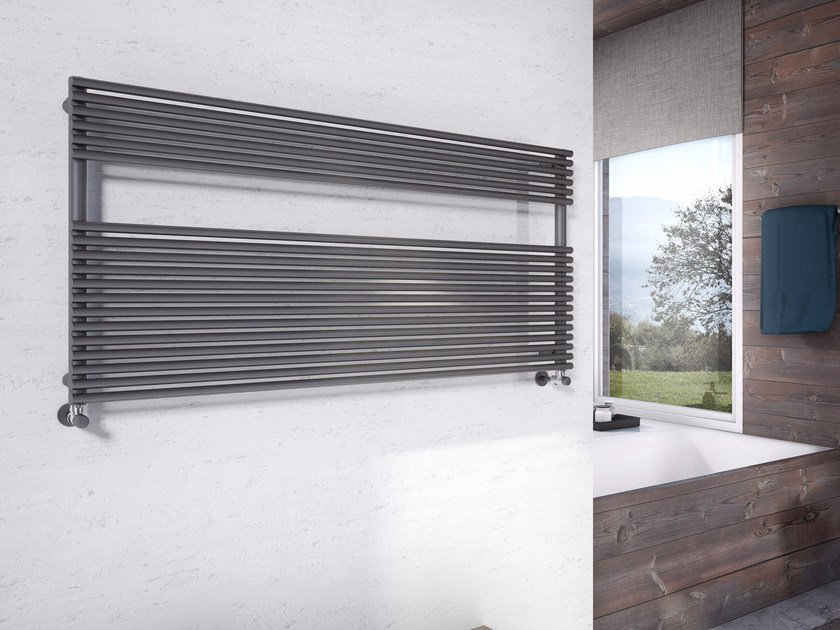 Horizontal wall-mounted towel warmer LUCY WIDE - CORDIVARI
