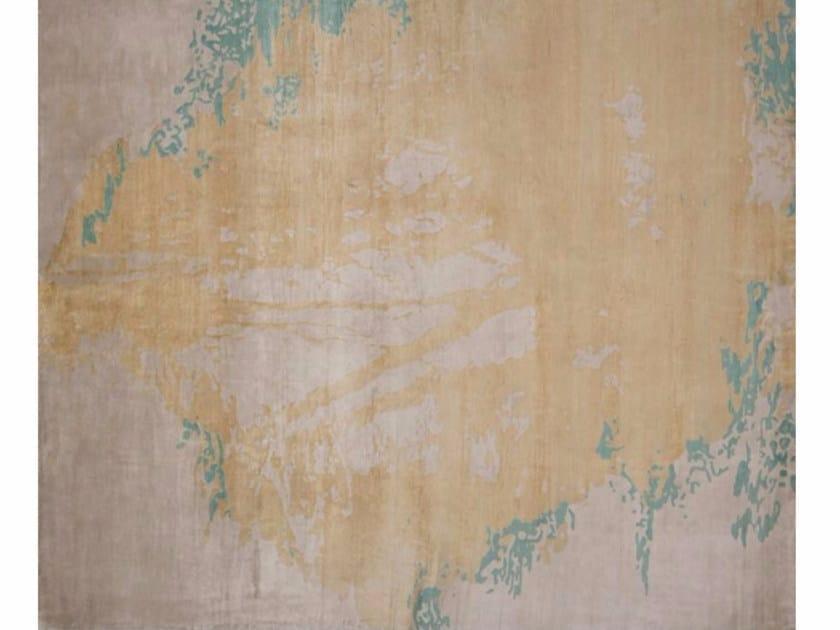 Handmade rectangular rug LUGANO LIGHT BLUE - EDITION BOUGAINVILLE