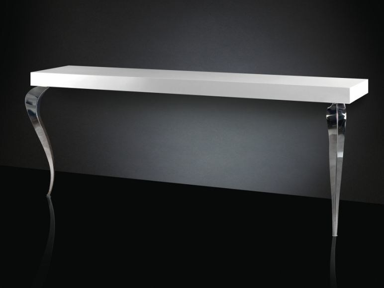 Lacquered steel console table LUIGI | Rectangular console table - VGnewtrend