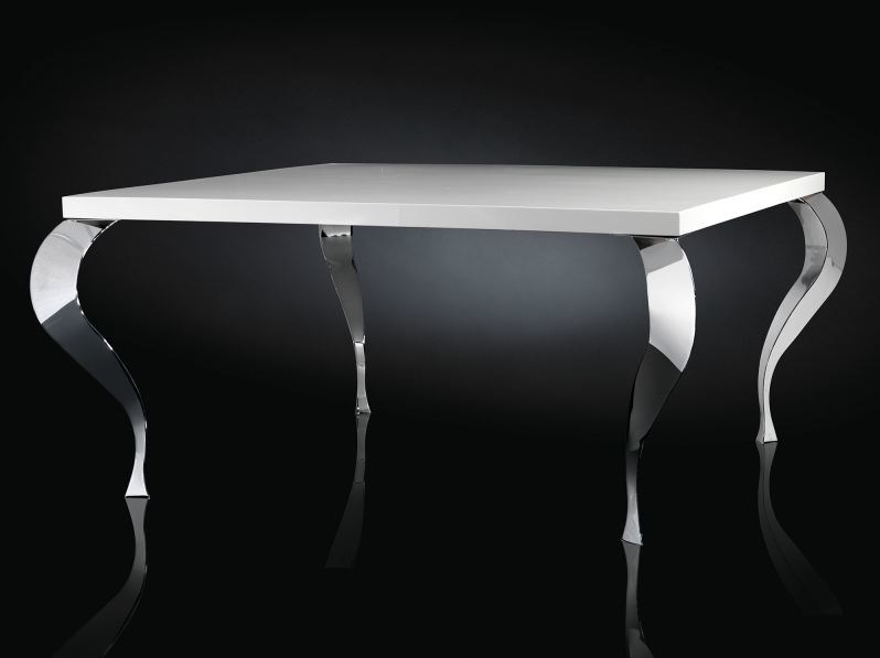 Lacquered round steel living room table LUIGI | Square table - VGnewtrend